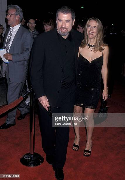 Actor John Travolta and actress Kelly Preston attend the 'For Love of the Game' Century City Premiere on September 15 1999 at Cineplex Odeon Century...