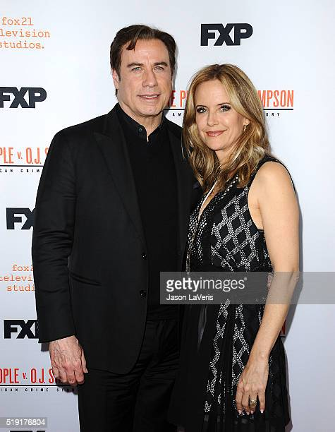 Actor John Travolta and actress Kelly Preston attend the For Your Consideration event for FX's 'The People v OJ Simpson American Crime Story' at The...