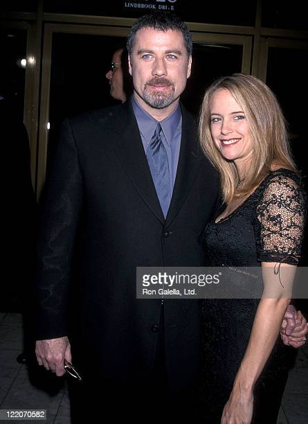 Actor John Travolta and actress Kelly Preston attend 'The General's Daughter' Westwood Premiere on June 15 1999 at the Mann National Theatre in...