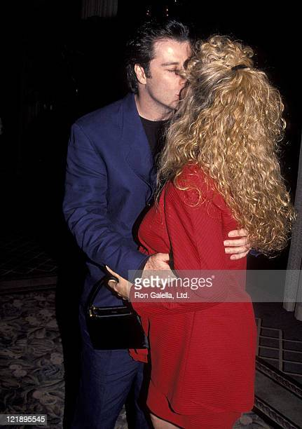 Actor John Travolta and actress Kelly Preston attend the 'Grease' Original Theatre Production's 20th Anniversary Celebration on February 15 1992 at...