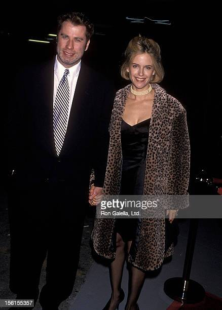 Actor John Travolta and actress Kelly Preston attend the Hollywood Entertainment Museum's Hollywood Legacy Awards on November 12 1994 at Hollywood...