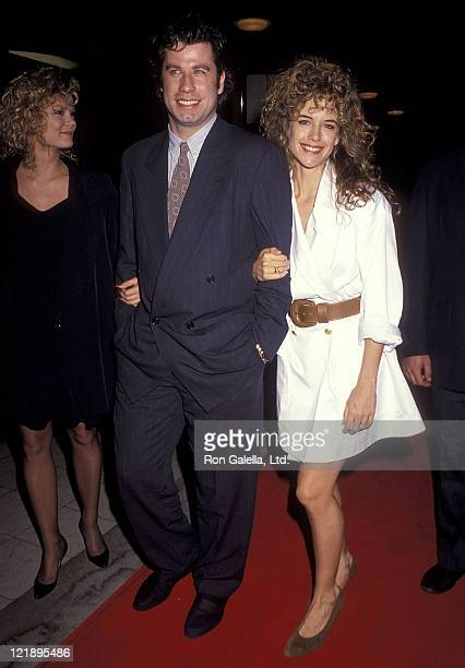 Actor John Travolta and actress Kelly Preston attend the 'Hudson Hawk' Westwood Premiere on May 20 1991 at Mann National Theatre in Westwood...