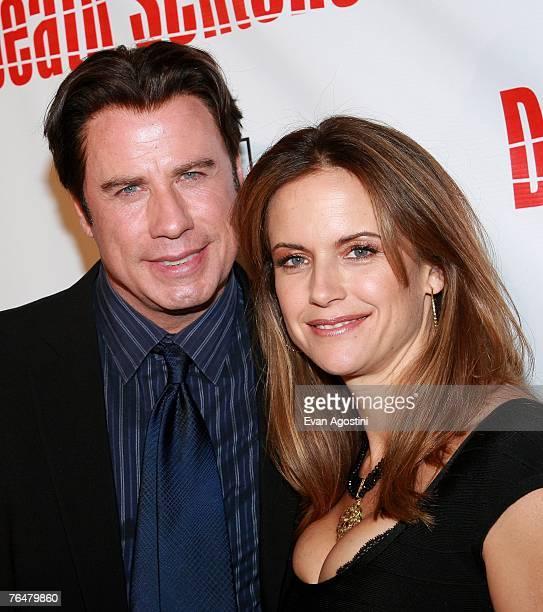 Actor John Travolta and actress Kelly Preston attend the premiere of Twentieth Century Fox's 'Death Sentence' at the Tribeca Cinemas on August 28...