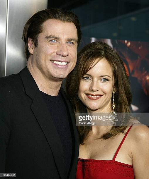 Actor John Travolta and actress Kelly Preston attends the Los Angeles premiere of the Lion's Gate film 'The Punisher' at the ArcLight Cinerama Dome...