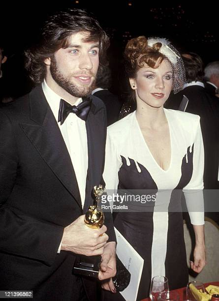 Actor John Travolta and actress Marilu Henner attend the 36th Annual Golden Globe Awards on January 27 1979 at Beverly Hilton Hotel in Beverly Hills...