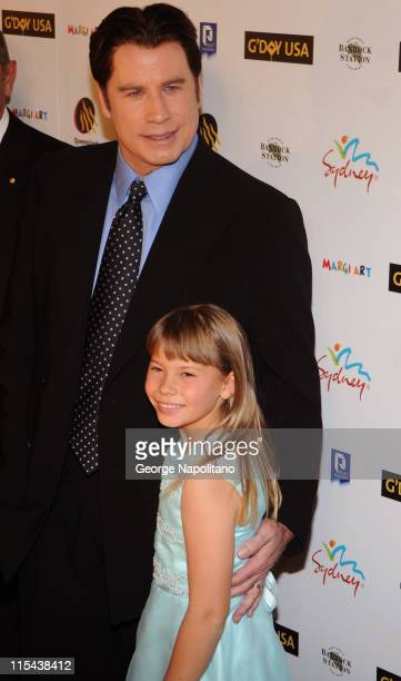 Actor John Travolta and Bindi Irwin attend G'Day USA Australia Week 2008 on January 22, 2008 at Jazz at Lincoln Center in New York City.