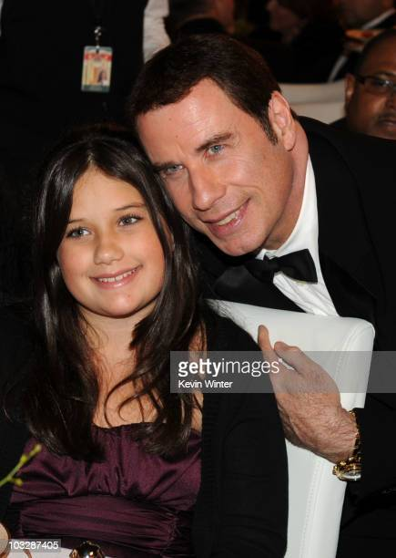Actor John Travolta and daughter actress Ella Bleu Travolta attend The Church of Scientology Celebrity Centre 41st Anniversary Gala held at the...