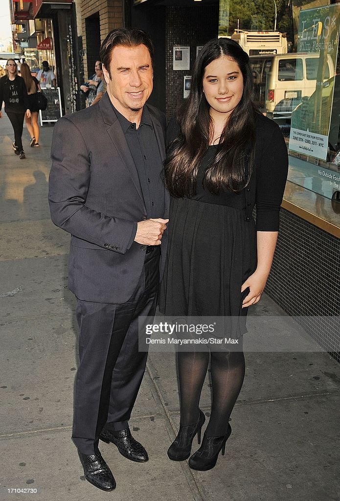 Actor John Travolta and Ella Bleu Travolta as seen on June 20, 2013 in New York City.