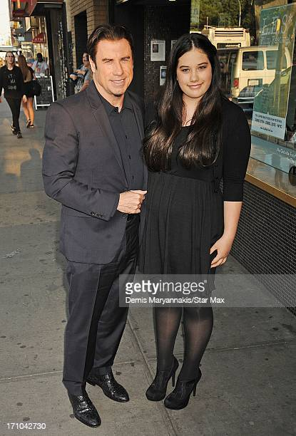 Actor John Travolta and Ella Bleu Travolta as seen on June 20, 2013 in New York City.