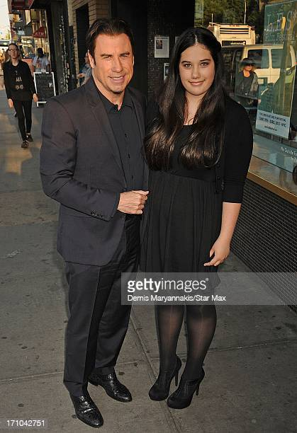 Actor John Travolta and Ella Bleu Travolta as seen on June 20 2013 in New York City