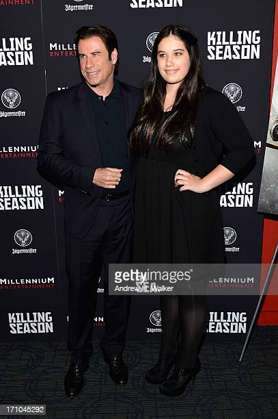 Actor John Travolta and Ella Bleu Travolta attend the Killing Season New York Premiere at Sunshine Landmark on June 20 2013 in New York City