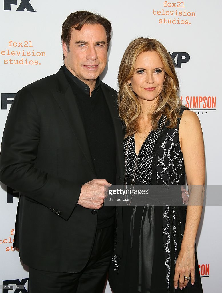 Actor John Travolta and Kelly Preston attend the FX's For Your Consideration Event for 'The People v. O.J. Simpson - American Crime Story' at The Theatre at Ace Hotel on April 4, 2016 in Los Angeles, California.