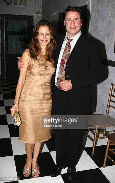 COVERAGE*** Actor John Travolta and Kelly Preston visit the cast of The Rise of Dorothy Hale OffBroadway at St Lukes Theater on October 7 2007 in New...