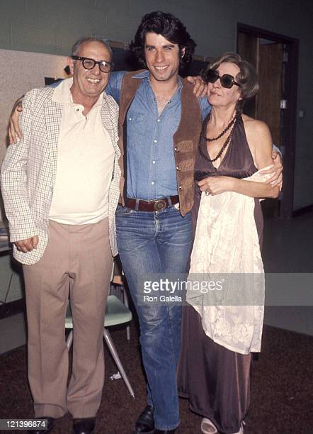 Actor John Travolta and parents Helen and Salvatore Travolta the Bus Stop Opening Night Play Performance on August 1 1976 at the Westchester...