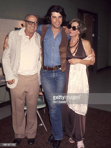 Actor John Travolta and parents Helen and Salvatore Travolta the 'Bus Stop' Opening Night Play Performance on August 1 1976 at the Westchester...