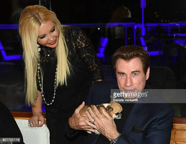 Actor John Travolta and producer Lady Monika Bacardi of AMBI Group Grand Gala in Rome for Puerto Azul Resort and Andrea Iervolino's Birthday on...
