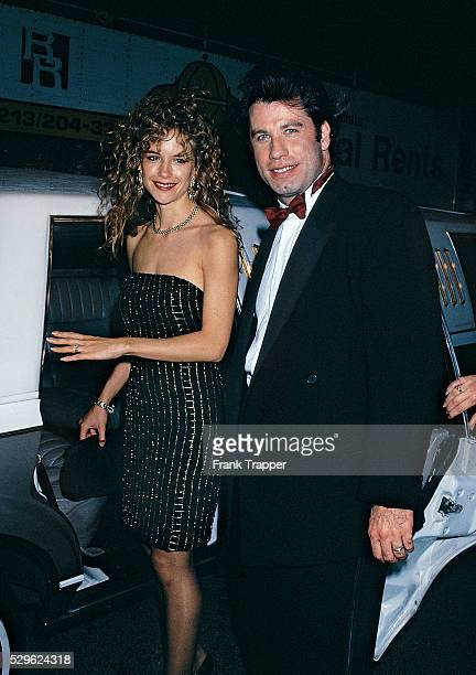 Actor John Travolta and wife/actress Kelly Preston arrive at the New York Film Critics party This photo appears on page 99 in Frank Trapper's RED...