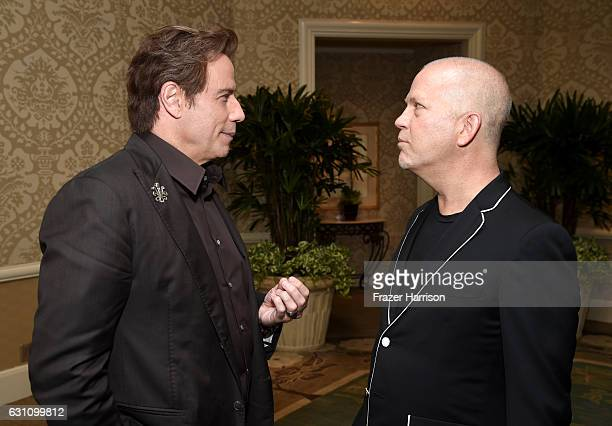 Actor John Travolta and writer/director Ryan Murphy attend the 17th annual AFI Awards at Four Seasons Los Angeles at Beverly Hills on January 6 2017...