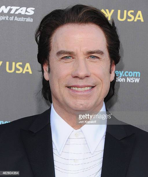 Actor John Travolta arrives at the 2015 G'Day USA Gala Featuring The AACTA International Awards Presented By Qantas at Hollywood Palladium on January...