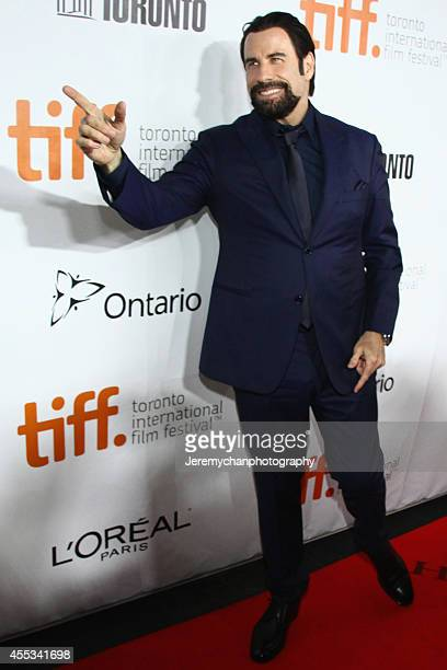 Actor John Travolta arrives at 'The Forger' Premiere during the 2014 Toronto International Film Festival held at Roy Thomson Hall on September 12...