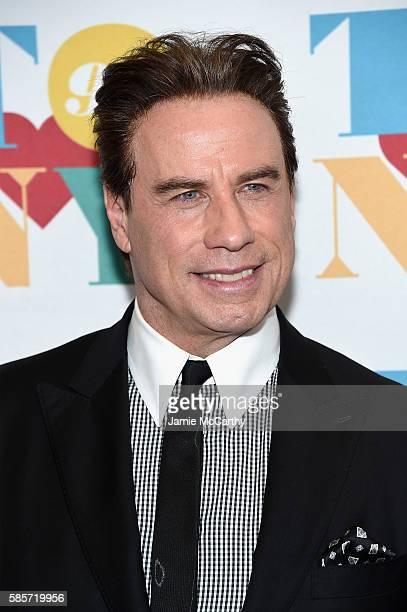 Actor John Travolta arrives for music legend Tony Bennett's 90th birthday celebration at The Rainbow Room on August 3 2016 in New York City
