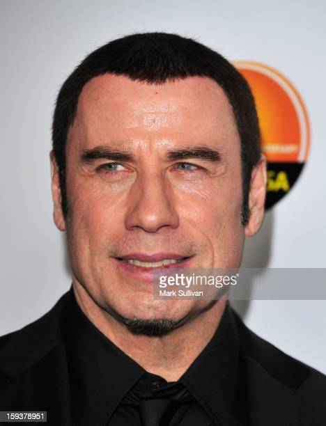 Actor John Travolta arrives for the G'Day USA Black Tie Gala held at at the JW Marriot at LA Live on January 12 2013 in Los Angeles California
