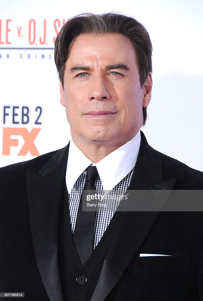 Actor John Travolta attends Premiere of 'FX's 'American Crime Story - The People V. O.J. Simpson' at the Westwood Village Theatre on January 27, 2016 in Westwood, California.