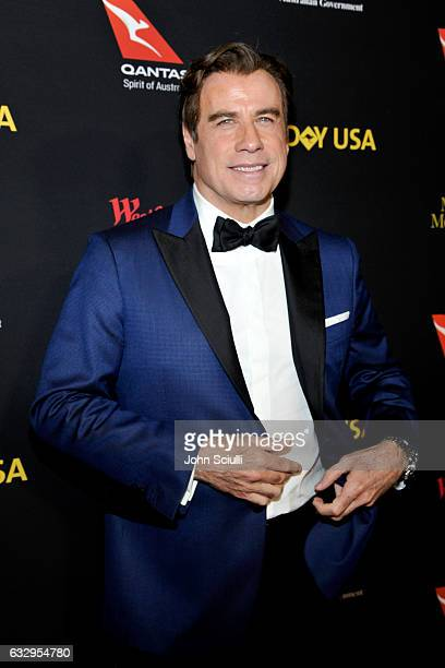 Actor John Travolta attends the 2017 G'Day Black Tie Gala at Governors Ballroom At Hollywood And Highland on January 28 2017 in Hollywood California
