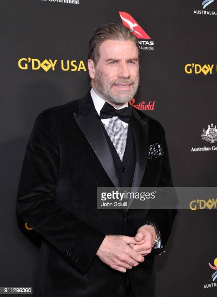 Actor John Travolta attends the 2018 G'Day USA Black Tie Gala at InterContinental Los Angeles Downtown on January 27 2018 in Los Angeles California