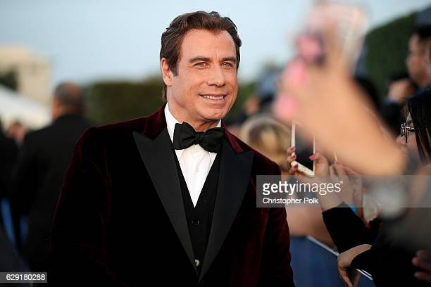 Actor John Travolta attends The 22nd Annual Critics' Choice Awards at Barker Hangar on December 11 2016 in Santa Monica California