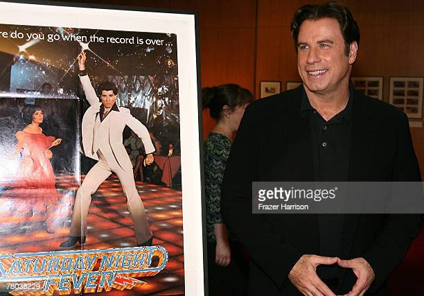 Actor John Travolta attends the Academy of Motion Picture Arts and Sciences 30th anniversary screening of Saturday Night Fever on November 20 2007 at...