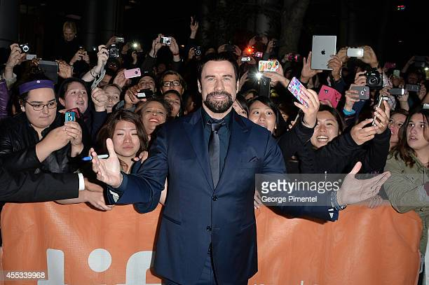 Actor John Travolta attends 'The Forger' premiere during the 2014 Toronto International Film Festival at Roy Thomson Hall on September 12 2014 in...