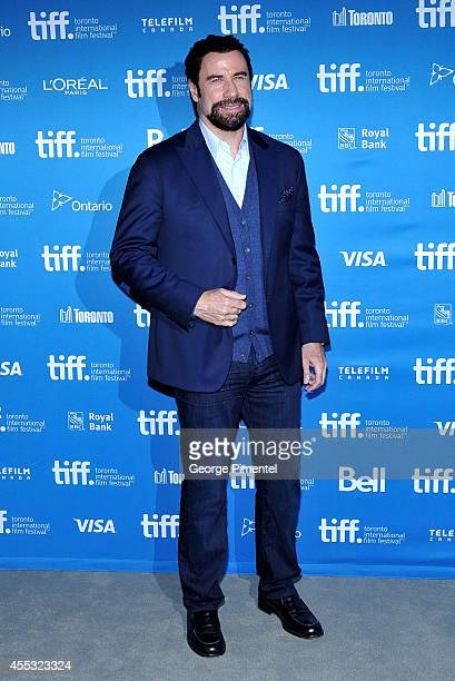 """Actor John Travolta attends """"The Forger"""" Press Conference during the 2014 Toronto International Film Festival at TIFF Bell Lightbox on September 12,..."""