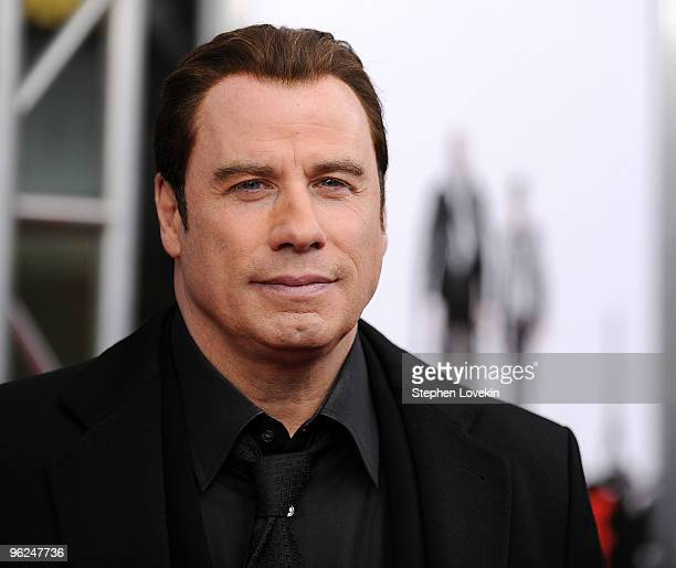Actor John Travolta attends the 'From Paris With Love' premiere at the Ziegfeld Theatre on January 28 2010 in New York City