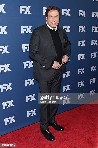 Actor John Travolta attends the FX Networks Upfront screening of The People v OJ Simpson American Crime Story at AMC Empire 25 theater on March 30...