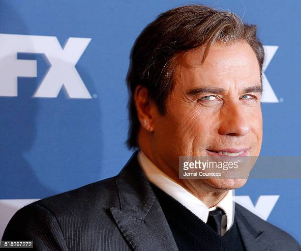 Actor John Travolta attends the FX Networks Upfront Screening Of 'The People v OJ Simpson American Crime Story' at AMC Empire 25 theater on March 30...