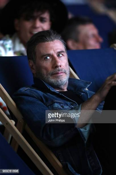 Actor John Travolta attends the 'Grease' 40th Anniversary Screening during the 71st annual Cannes Film Festival at on May 16 2018 in Cannes France
