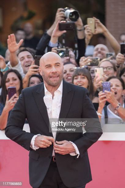 Actor John Travolta attends the red carpet for Close Encounters during the 14th Rome Film Festival in Rome Italy on October 22 2019