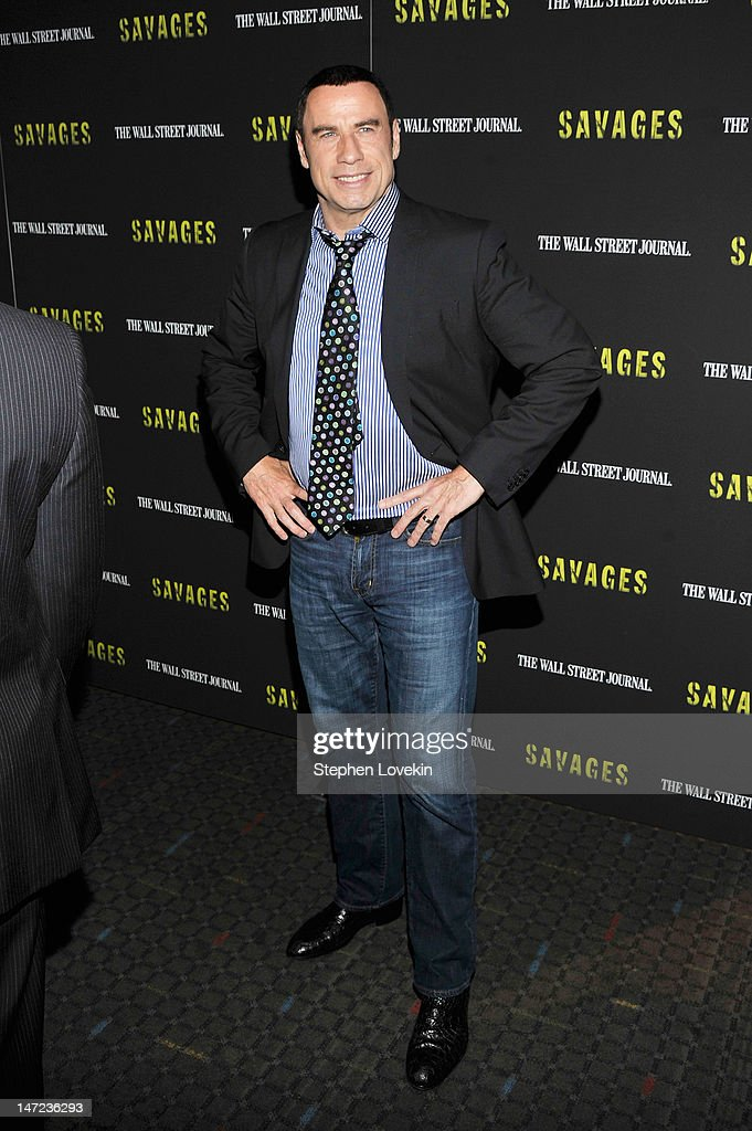Actor John Travolta attends the 'Savages' New York premiere at SVA Theater on June 27, 2012 in New York City.