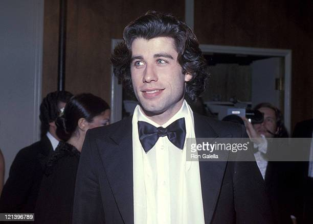 Actor John Travolta attends the Sixth Annual American Film Institute Lifetime Achievement Award Salute to Henry Fonda on March 1 1978 at Beverly...