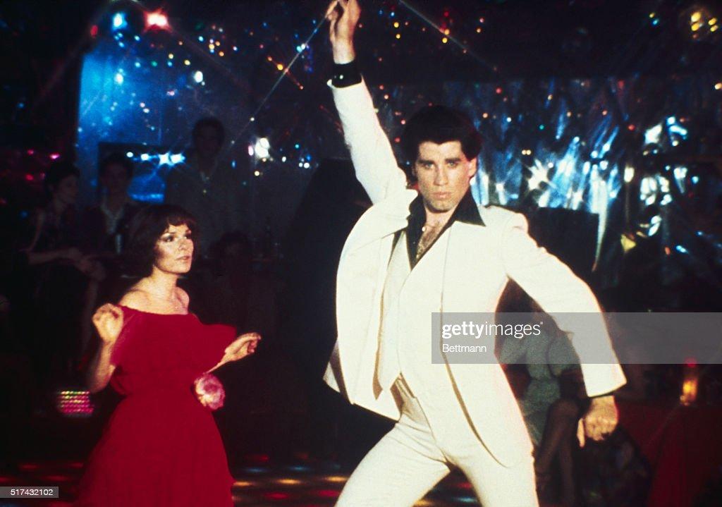 John Travolta Dancing in Saturday Night Fever : News Photo