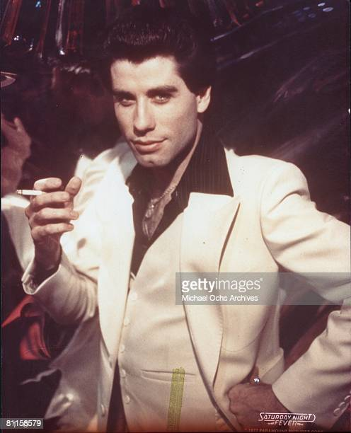 Actor John Travolta in the film 'Saturday Night Fever'