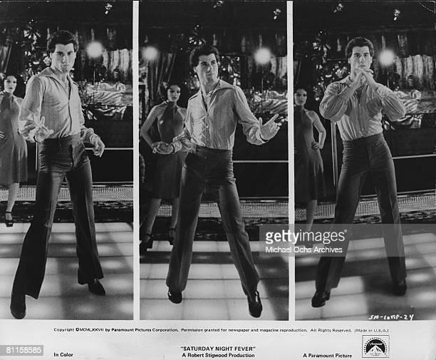 Actor John Travolta in the film 'Saturday Night Fever'