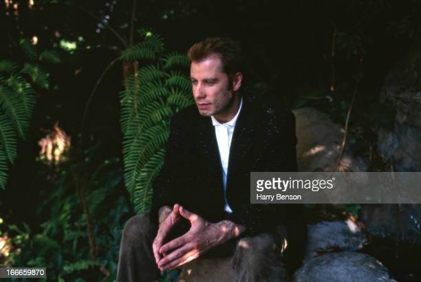 Actor John Travolta is photographed for People Magazine in 1994 at home in Belair California