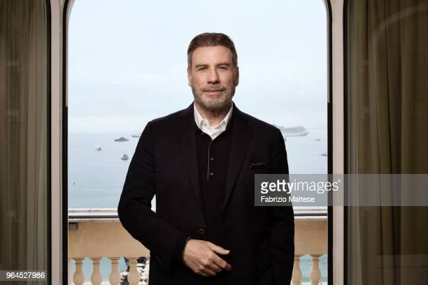 Actor John Travolta is photographed for The Hollywood Reporter on May 2018 in Cannes France