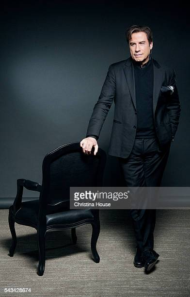 Actor John Travolta of 'The People vs OJ Simpson' is photographed for Los Angeles Times on April 4 2016 in Los Angeles California