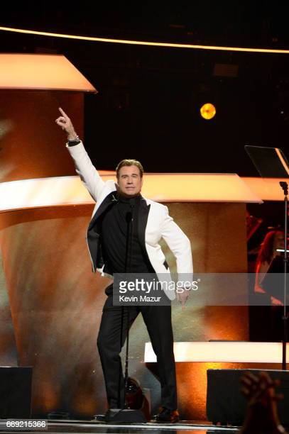 Actor John Travolta performs onstage during 'Stayin' Alive A GRAMMY Salute To The Music Of The Bee Gees' on February 14 2017 in Los Angeles California