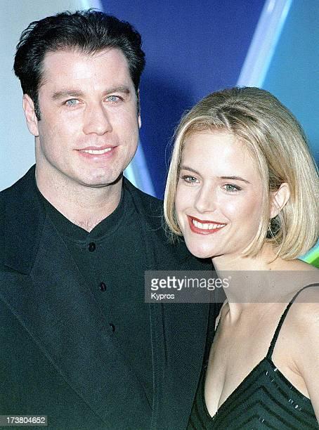 Actor John Travolta with his wife actress Kelly Preston circa 1992