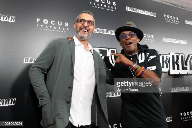 Actor John Turturro and director Spike Lee attend the 'BlacKkKlansman' New York Premiere at Brooklyn Academy of Music on July 30 2018 in New York City