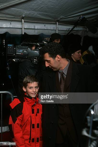 Actor John Turturro and son Amedeo Turturro attending the premiere of 'O Brother Where Art Thou' on December 19 2000 at the Ziegfeld Theater in New...
